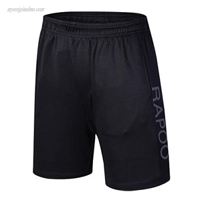 Rapoo Men's Workout Running Shorts Lightweight Quick Dry Gym Athletic Training Short Pants with Liner Pocket
