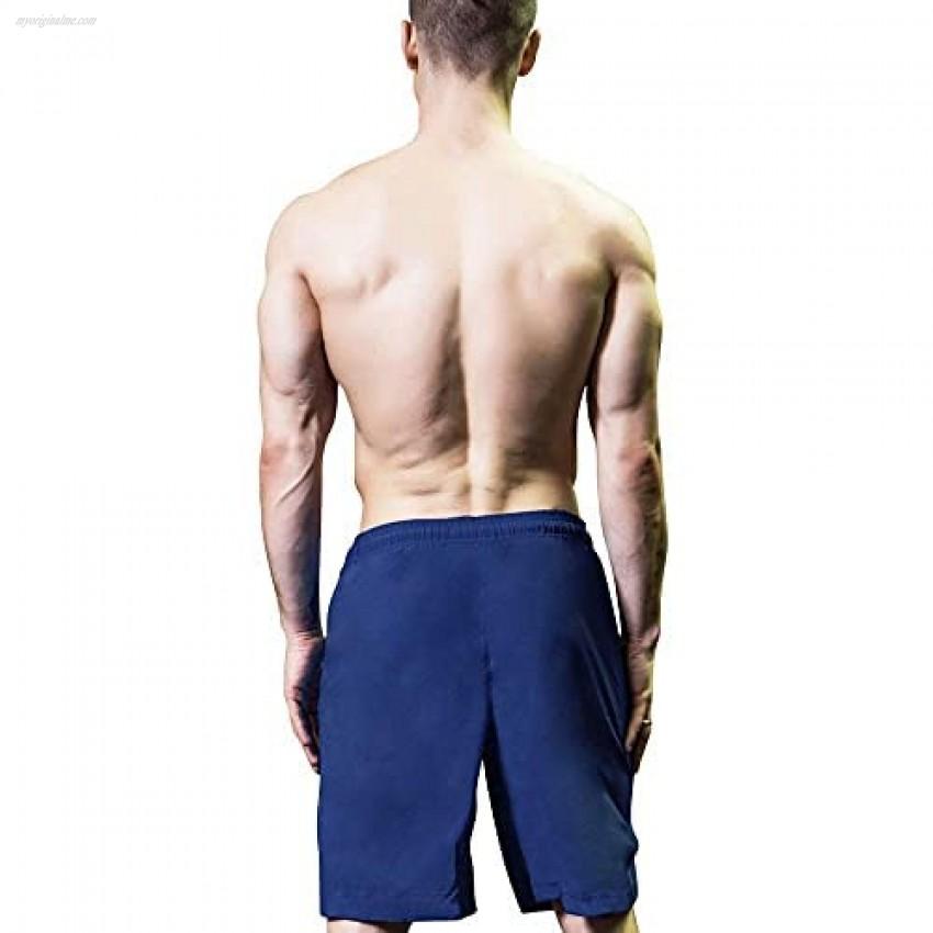 Yuerlian Men's 7'' Running Shorts Quick Dry Shorts Basketball Shorts with Zipper Pockets