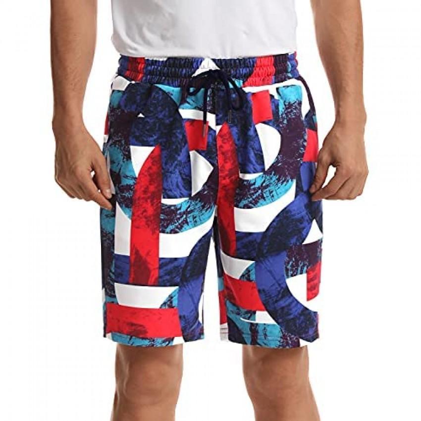Zengjo Mens Sweat Shorts 9 Inch Inseam
