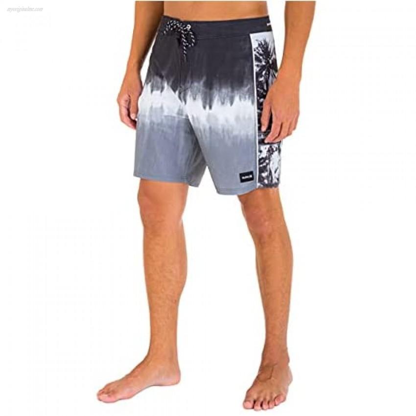 Hurley Men's Phantom Fastlane Printed 18 Board Shorts Black 38