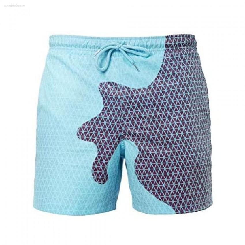 Gets Men Summer Swimming Trunks Funny Color Changing Swim Trunks–Temperature Sensitive Beach Swim Shorts for Men