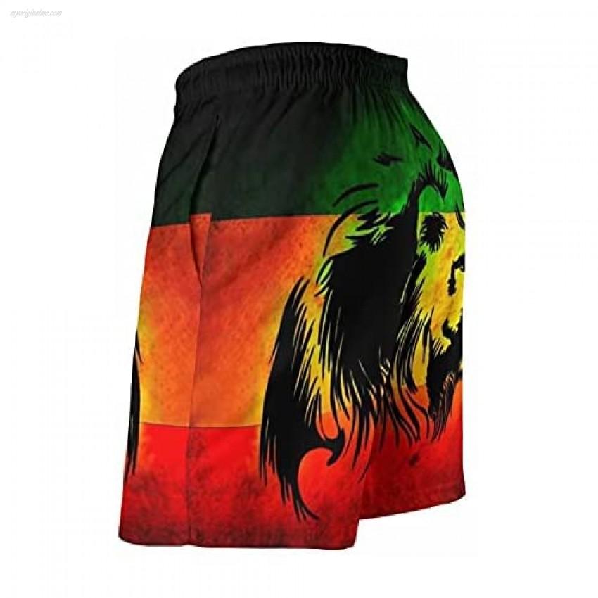 htrewtregregre Men's Beach Shorts Pants Funny Elastic Waist Quick Dry Cool Swim Trunks Swimwear