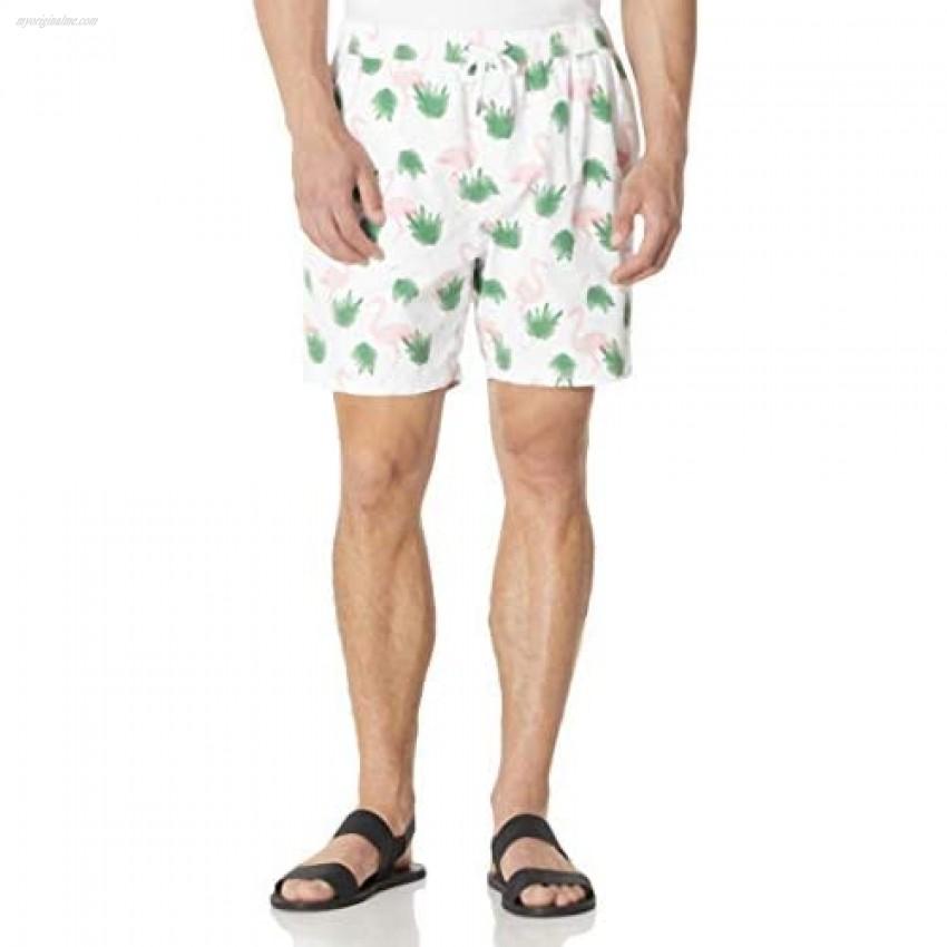 Isle Bay Linens Men's 7 Inseam Swim Trunks Quick Dry Beach Shorts with Pockets