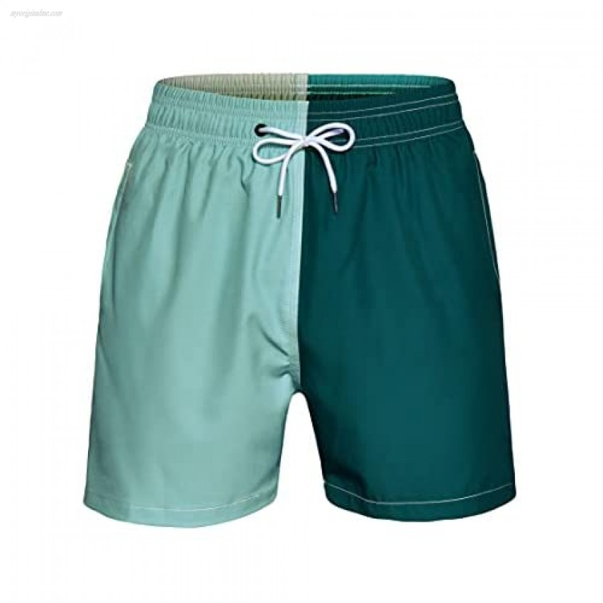 NETDRAW Mens Multicolor Quick Dry Swim Trunks with Mesh Lining
