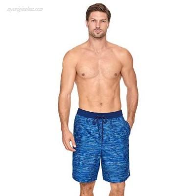 """Reebok Men's Swimwear Irvine 9"""" Volley UPF 50 Drawcord Elastic Waist Swim Shorts"""