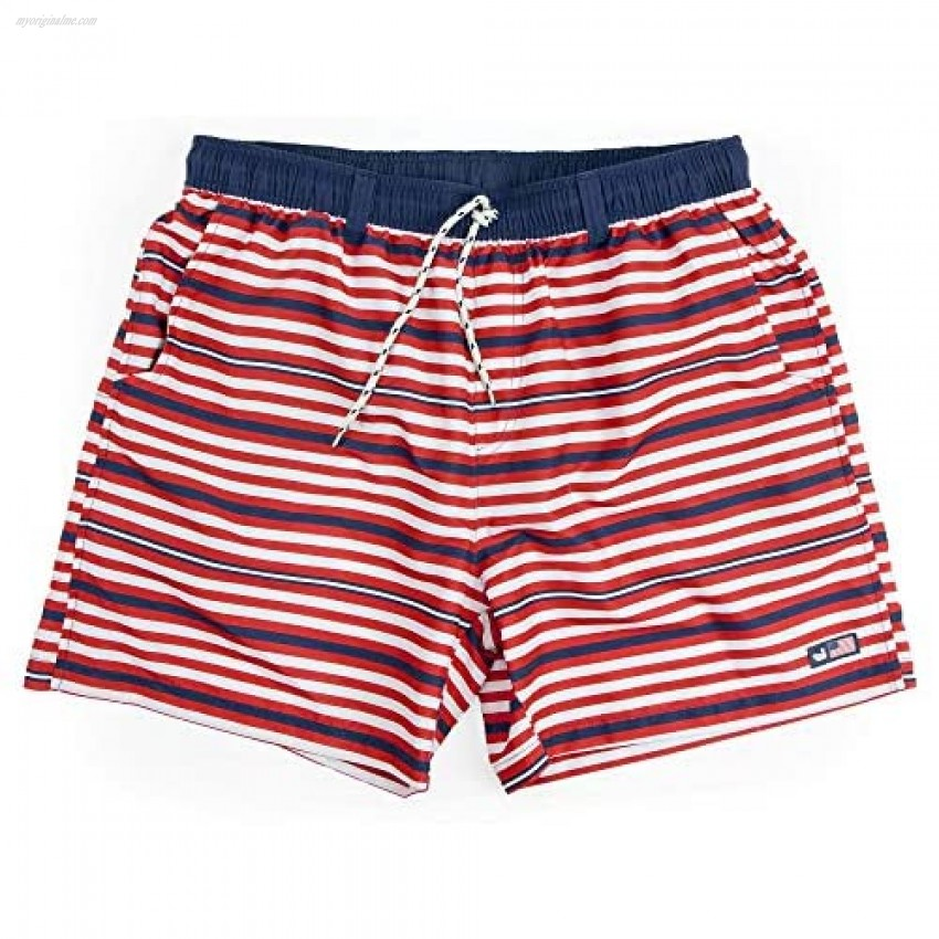 Southern Marsh Dockside Swim Trunk in Red White and Blue