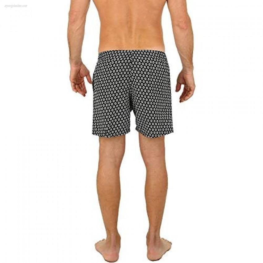 UZZI Men's Malibu Quick Dry Printed Short Swim Trunks