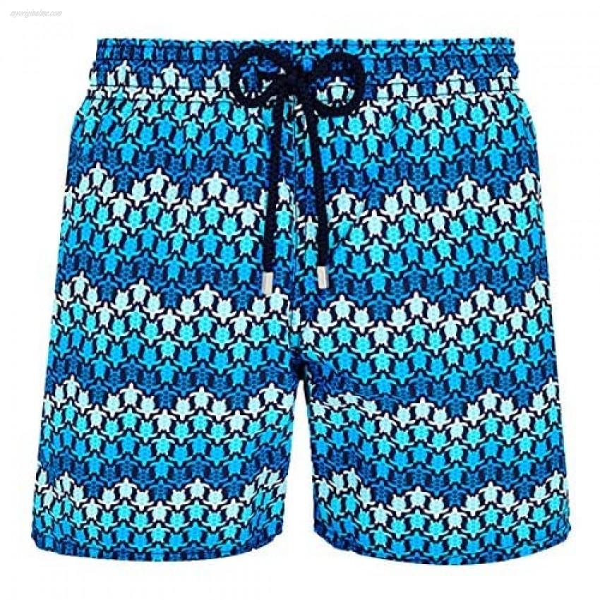 Vilebrequin - Men - Swimwear Herringbones Turtles