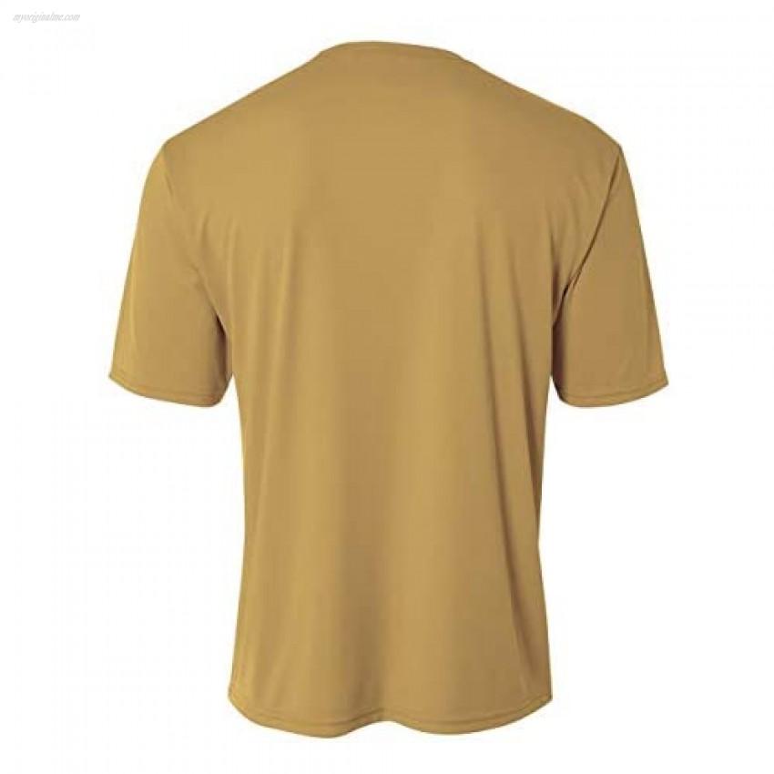 Mens Rash Guard Surf Swimwear Swim Shirt SPF Sun Protection Loose Fit Fitting Vegas Gold