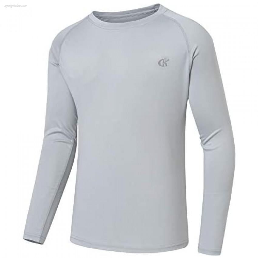 Satankud Men's UPF 50+ Athletic Hoodie Long Sleeve Workout Fishing Running Shirts