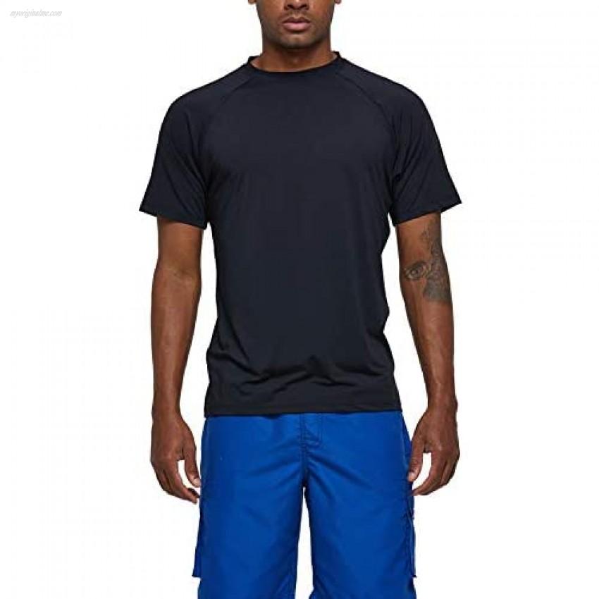 SLYRAIME Mens UPF 50+ Quick Dry Sun Protection Beach Swim Shirt Running Short Sleeves Workout Tops