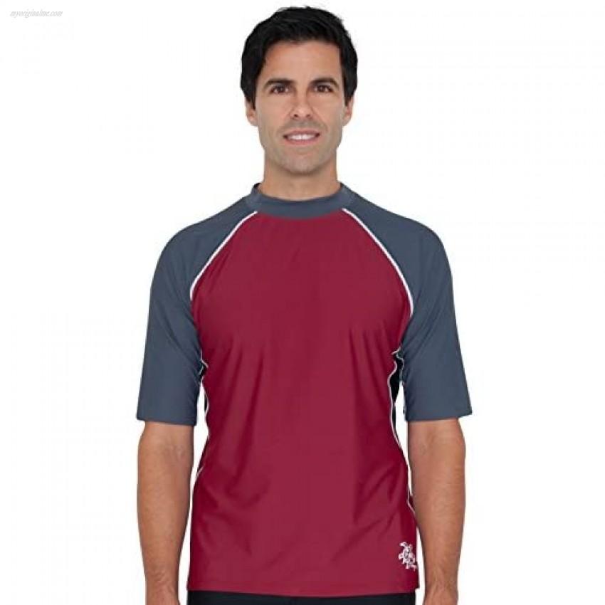 Tuga Men's Short Sleeve Rash Guard UPF 50+ Sun Protection