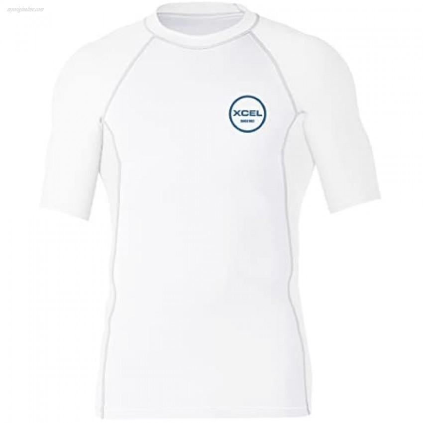 XCEL Mens Premium Stretch Solid Short Sleeve Performance Fit Rashguard