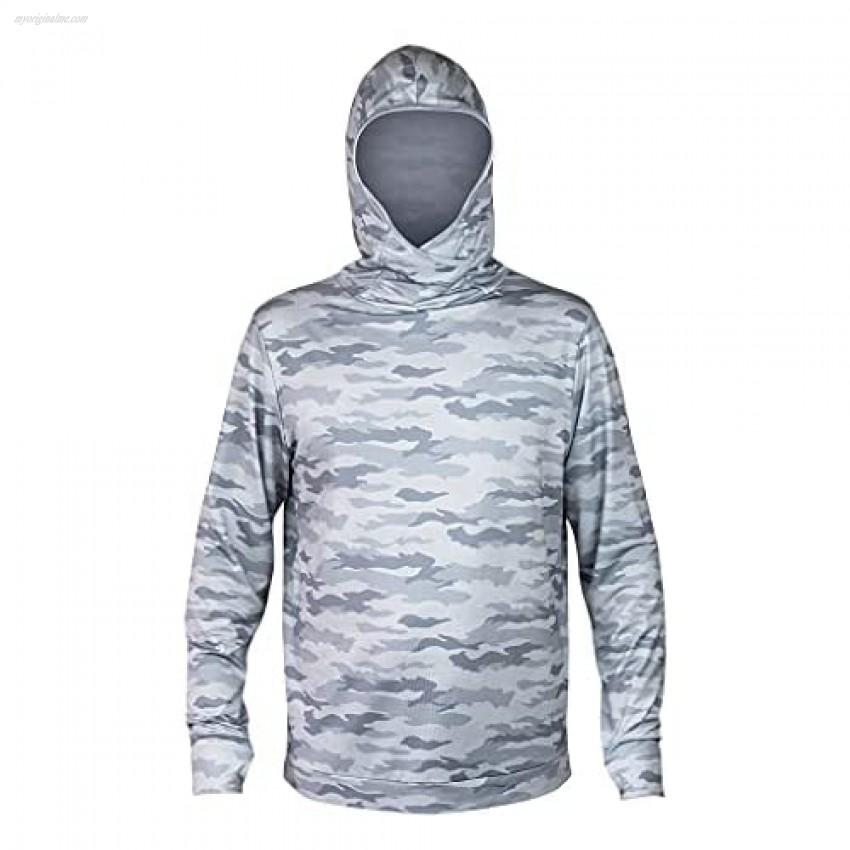 XCEL Mens ThreadX Iceskin Hooded Pullover Long Sleeve Uv Rashguard