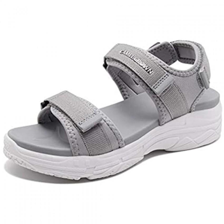 CAMEL Women's Athletic Sandals Comfortable Outdoor Walking Waterproof Lightweight Girls' Platform Shoes for Water Hiking Sports Beach Swim Travel