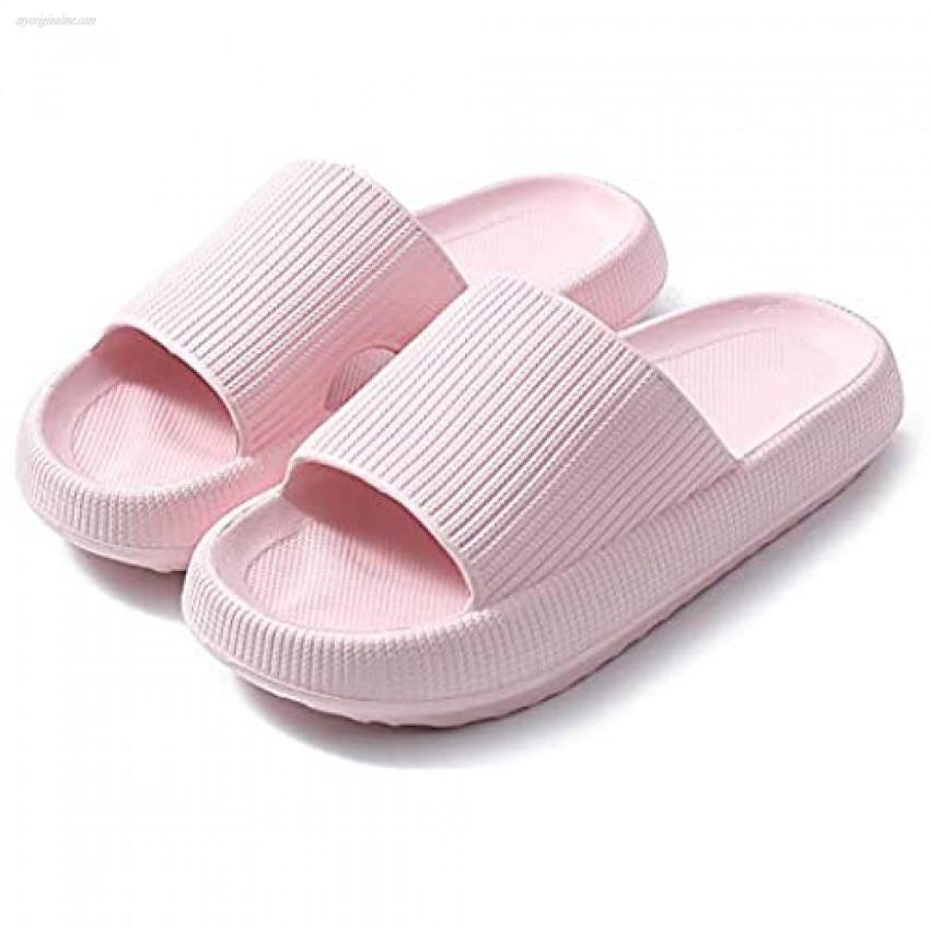 Prekeewil Pillow Slides Slippers for Women and Men Non Slip Quick Drying Massage Bathroom Shower Sandals Open Toe Super Soft Thick Sole Sandals Beach Pool Gym House Slipper Indoor & Outdoor