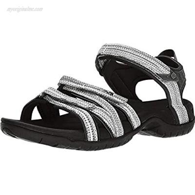 Teva Women's Tirra Sport Sandal Black/White MUL 11 Medium US