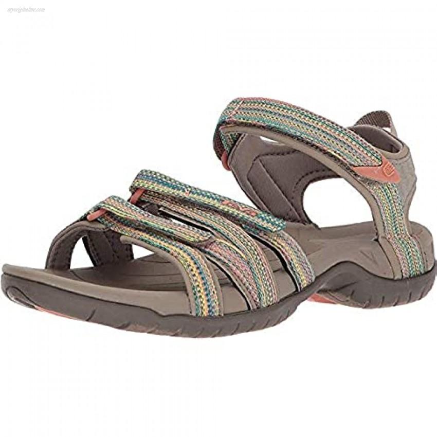Teva Women's Tirra Sport Sandal Taupe Multi 6 Medium US
