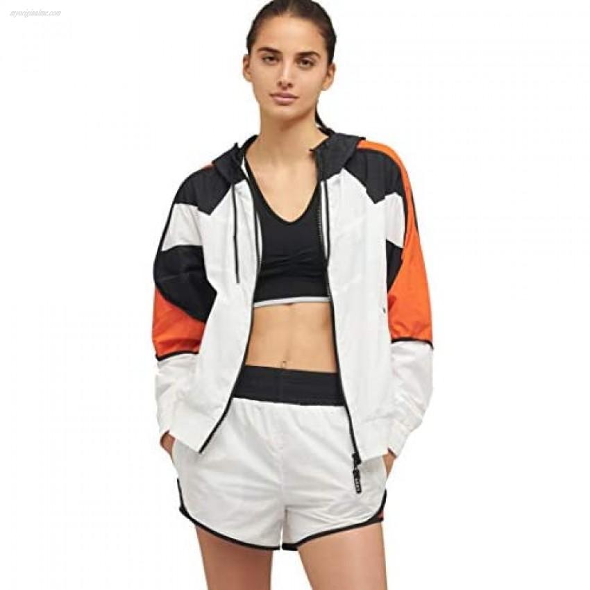 DKNY Women's Sport Colorblocked Track Jacket White M
