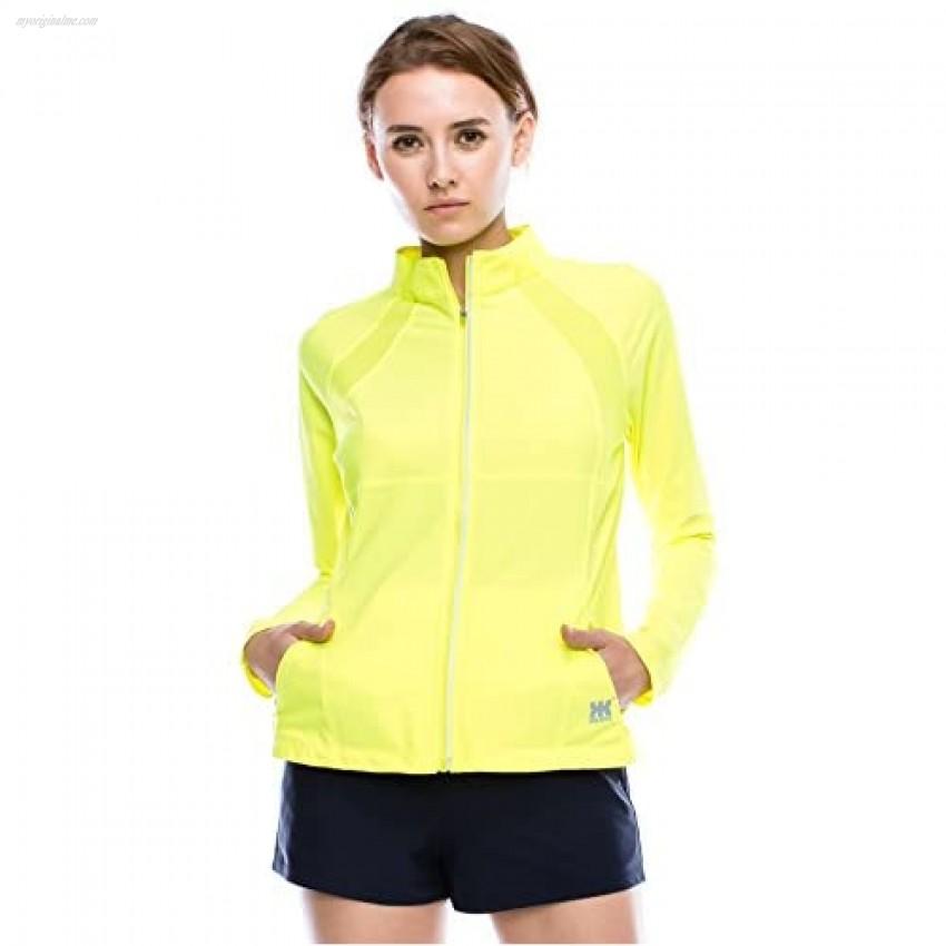 Kurve Women's Full Zip Jacket – Long Sleeve Lightweight Track Top Active Sport Running Workout Yoga Athletic Performance