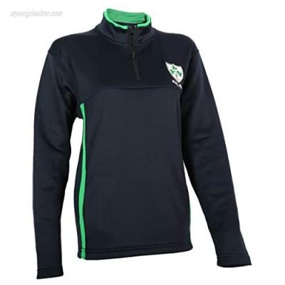 Malham USA Ladies Rugby Shamrock 1/4 Zip Mock Neck Activewear Jacket