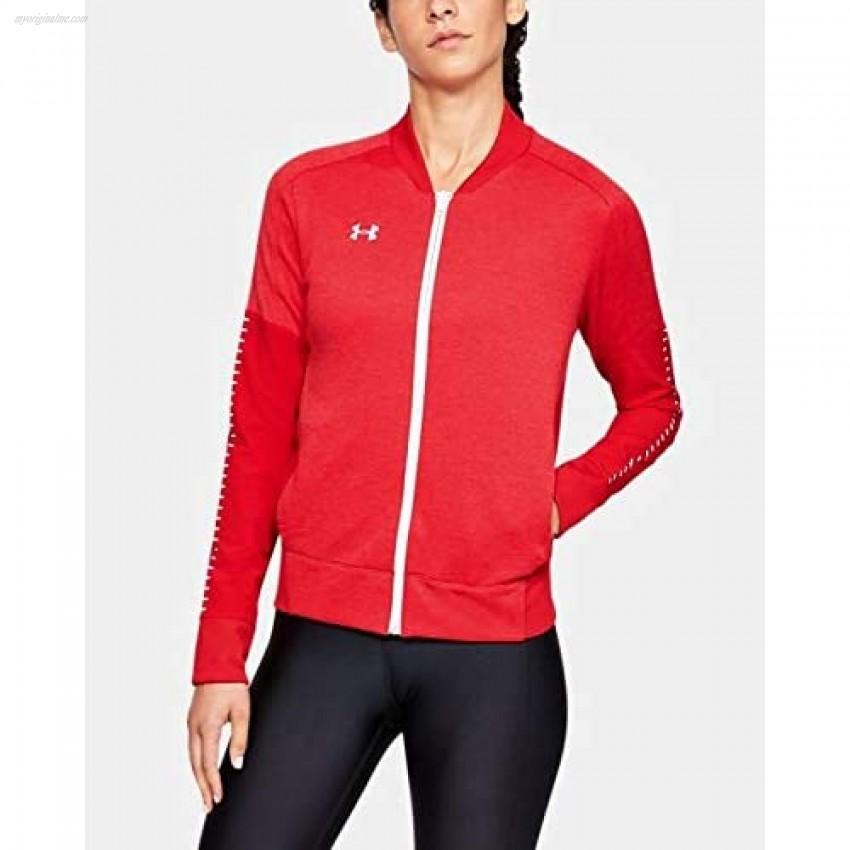Under Armour Women's UA Knit Warm-Up Jacket MDT Red