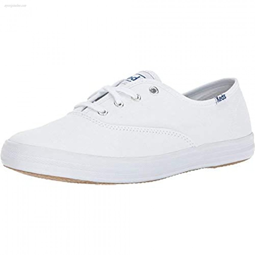 Keds Women's Champion Original Leather Lace-Up Sneaker White 8 Extra Wide US