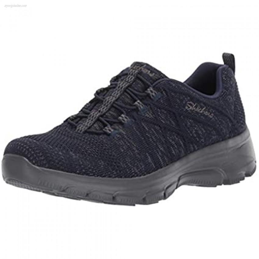 Skechers Women's Easy Going-Exchange-Engineered Knit Bungee Sneaker