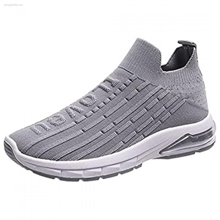 MALAXD Women's Mesh Slip On Air Cushion Running Walking Shoes Sock Sneakers Platform Loafers US 5.5-10