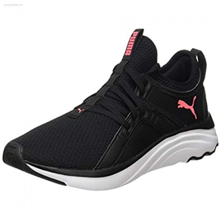 Puma Women's 194355 Road Running Shoe Black-Ignite Pink White
