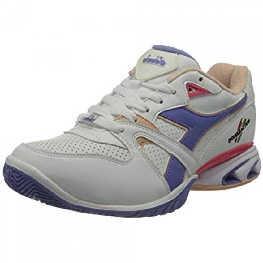 Diadora Women's Damen Speed Stark Duratech Ag Ac Tennisschuhe Allcourtschuh Weiß-Flieder 38 Tennis Shoes Bianco Violetto 7