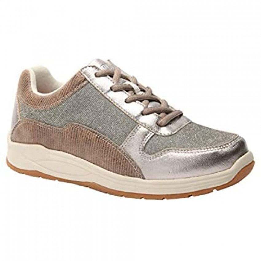Drew Woman Tuscany 10555 Pewter/Calf Leather/Mesh 7 Wide (D) US