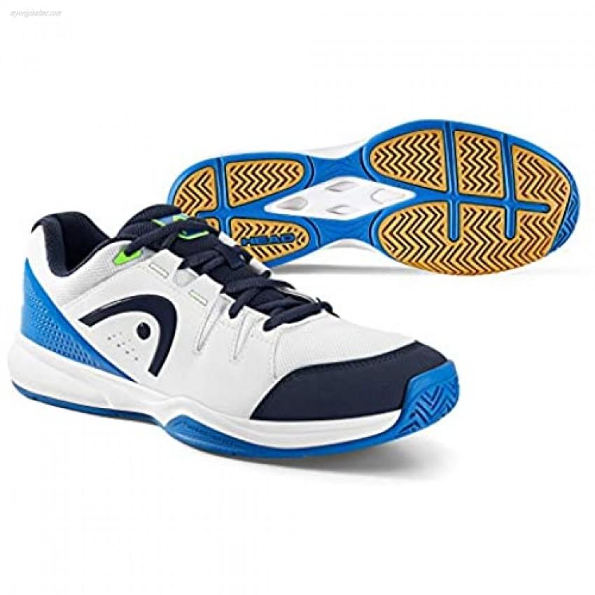HEAD Unisex Adults White/Blue Squash Shoes