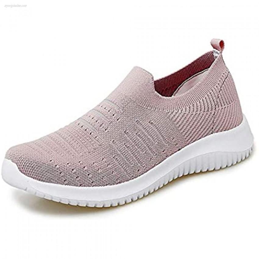 mitvr Women's Walking Shoes Lightweight Sock Sneakers Casual Mesh Nurse Work Fashion Sneakers