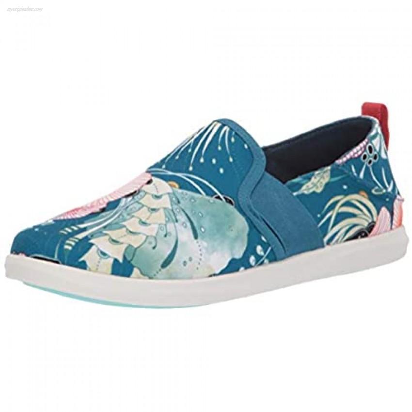 OluKai Haleiwa Pai Women's Slip On Shoes Teal/Coral - 5