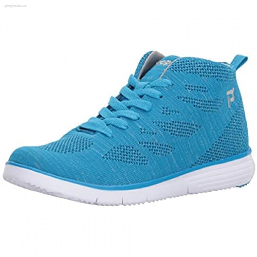 Propet Women's TravelFit Hi Sneaker Pacific/Silver 6 2E US