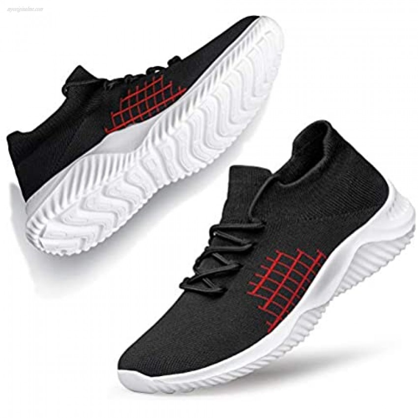 BELILENT Unisex Fashion Sneakers Lace-up Lightweight Breathable Athletic Shoes Gym Tenis Men's Running Shoes Walking Shoes for Women Jogging Fitness Outdoor Sports