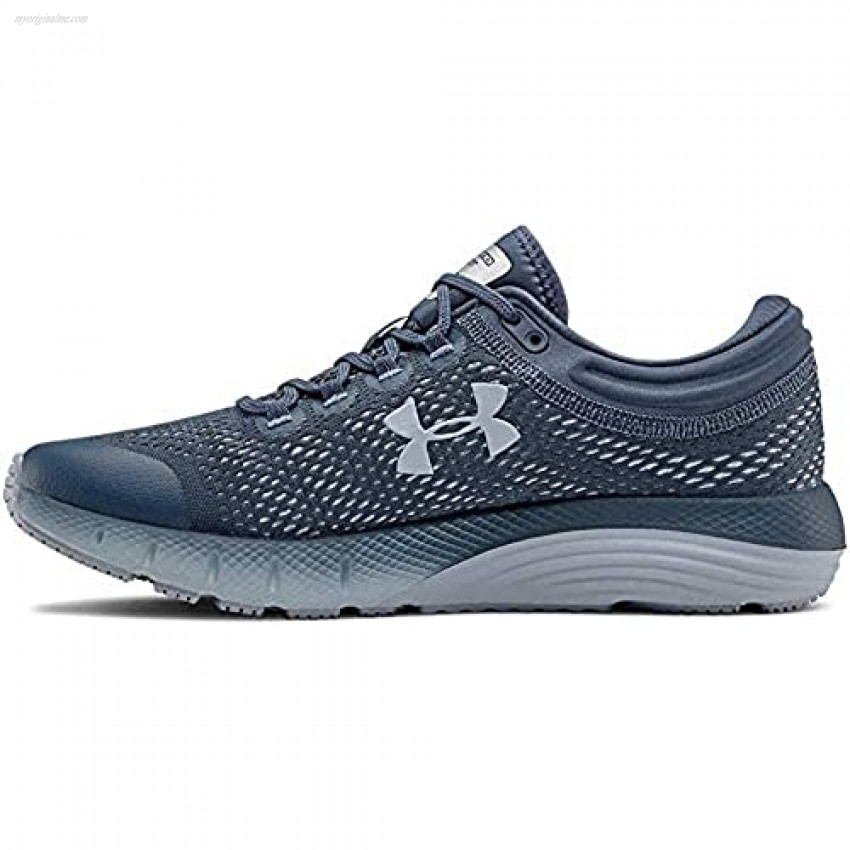 Under Armour Women's Charged Bandit 5 Running Shoe Downpour Gray (401)/Black 12