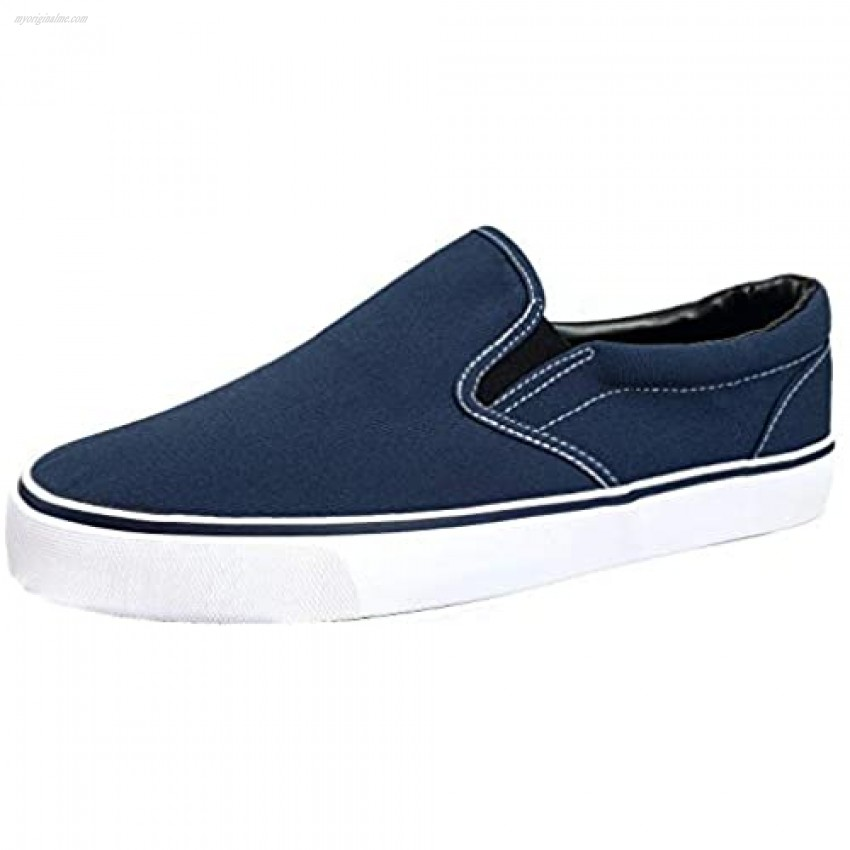 Mens Classic Slip On Canvas Sneakers