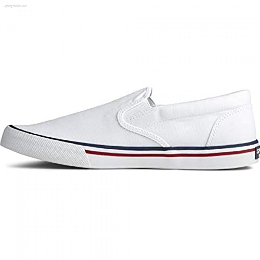 Sperry Men's Striper II Slip On Nautical sneaker White 7 M