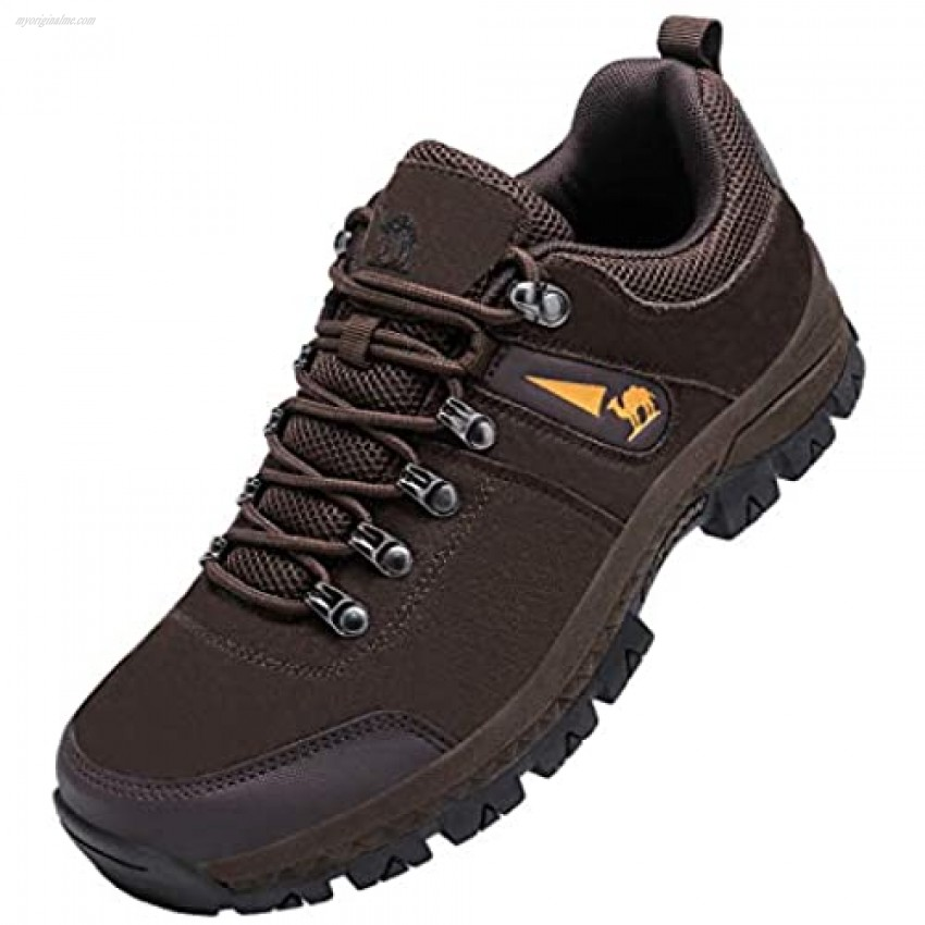 CAMEL Hiking Shoes Men Treeking Breathable - Low Cut Leather Shoes Slip Resistant Outdoor Train Boots