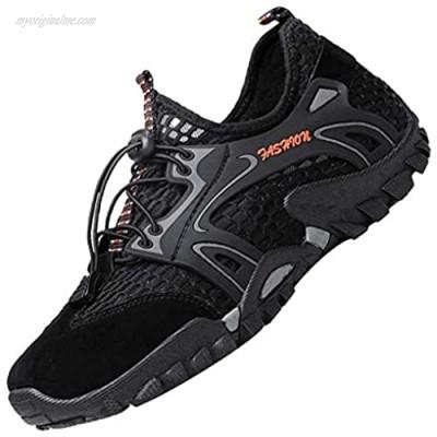 LOUECHY Men's Ponrea Mesh Hiking Shoes Breathable Water Shoes Trekking Sandals Outdoor Sneakers