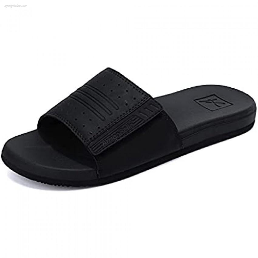 ARRIGO BELLO Men's Slides Sandals Adjustable Slip on Slippers Open Toe Sport Athletic Sandals Indoor and Outdoor