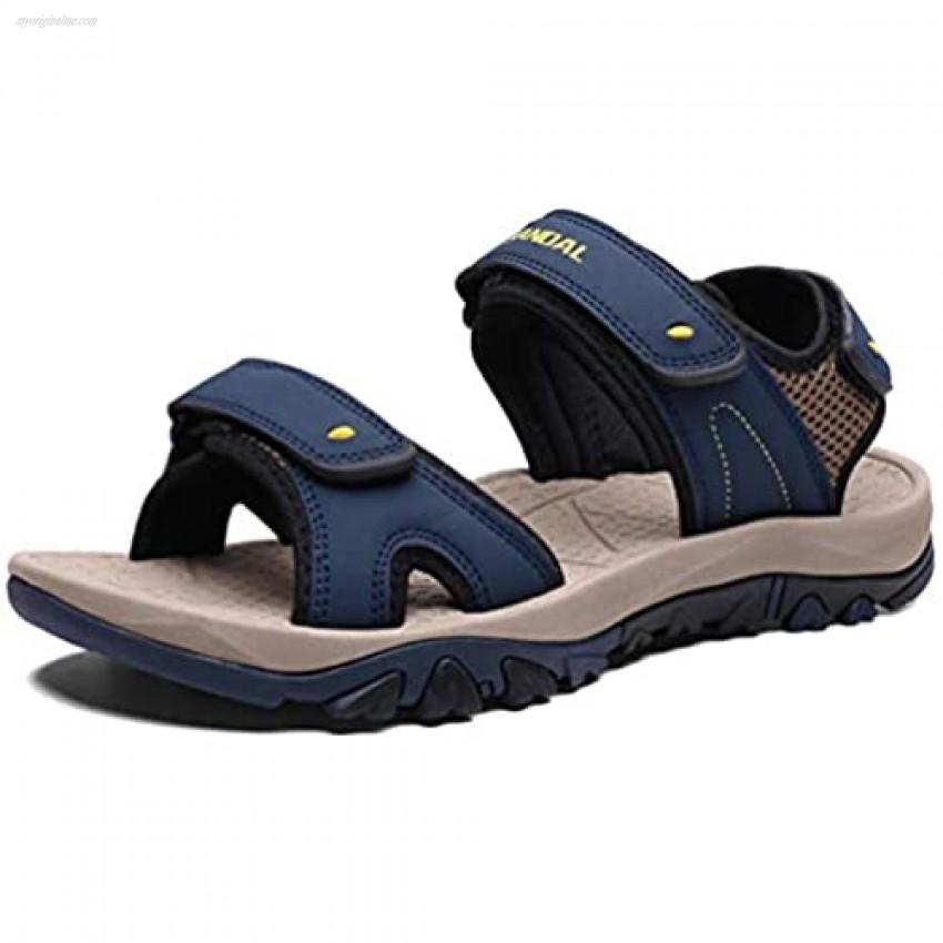 MAIZUN Mens Open Toe Sport Sandals Adjustable Straps Summer Outdoor Hiking Sandal Lightweight Athletic River Sandals