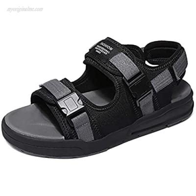 Men's Sandal Mens Hiking Sandals Sport Sandal Lightweight Trail Walking Shoes for Beach Water Arch Support black blue grey