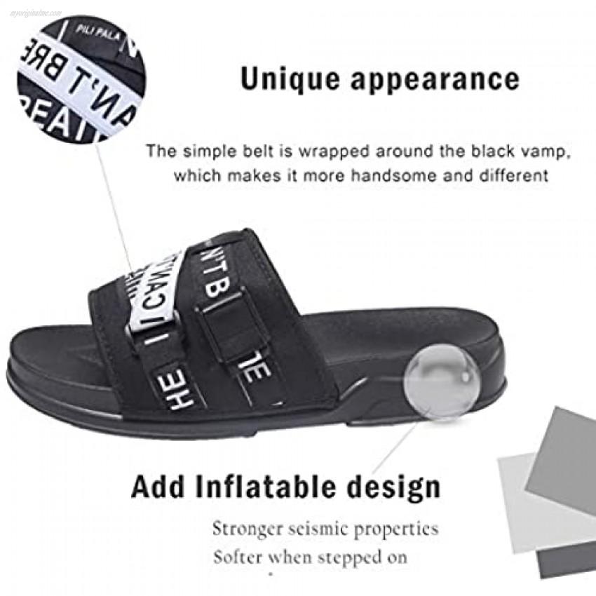 Mens Womens Slides Beach Comfortable Sandas Platform Fashion Slip On Sandals Shower Shoes Pillow PVC Slides for kids boy