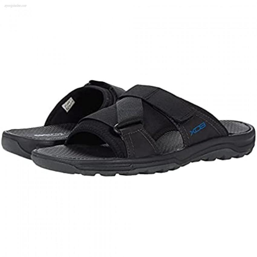 Rockport Men's Trail Technique Velcro Slide Sandal Black 10 Wide
