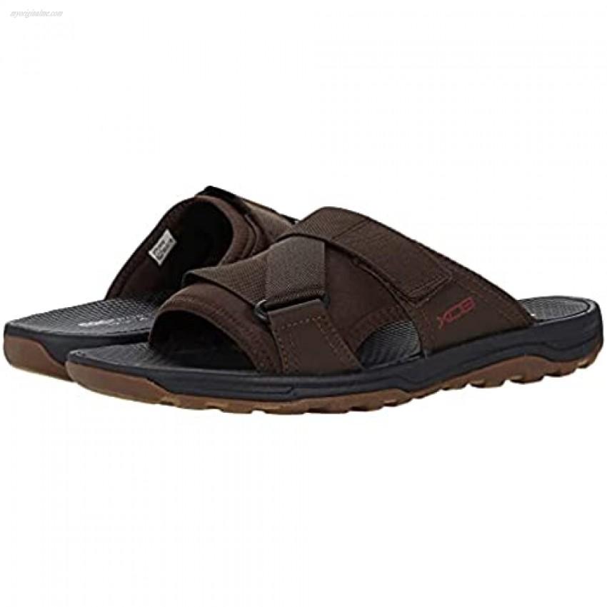 Rockport Men's Trail Technique Velcro Slide Sandal Brown 11