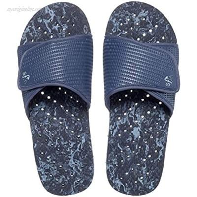 Showaflops Mens' Shower & Water Sandals for Pool Beach Dorm and Gym - Bold Adjustable Colorblock Slide