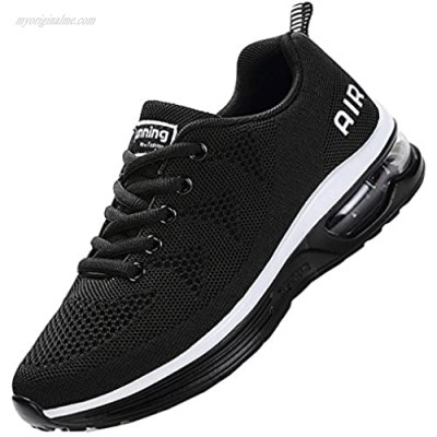 JARLIF Men's Lightweight Athletic Running Shoes Breathable Sport Air Fitness Gym Jogging Sneakers (Size 6.5-12.5)